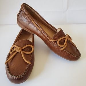 Frye Janet Tie Distressed leather moccasins loafer